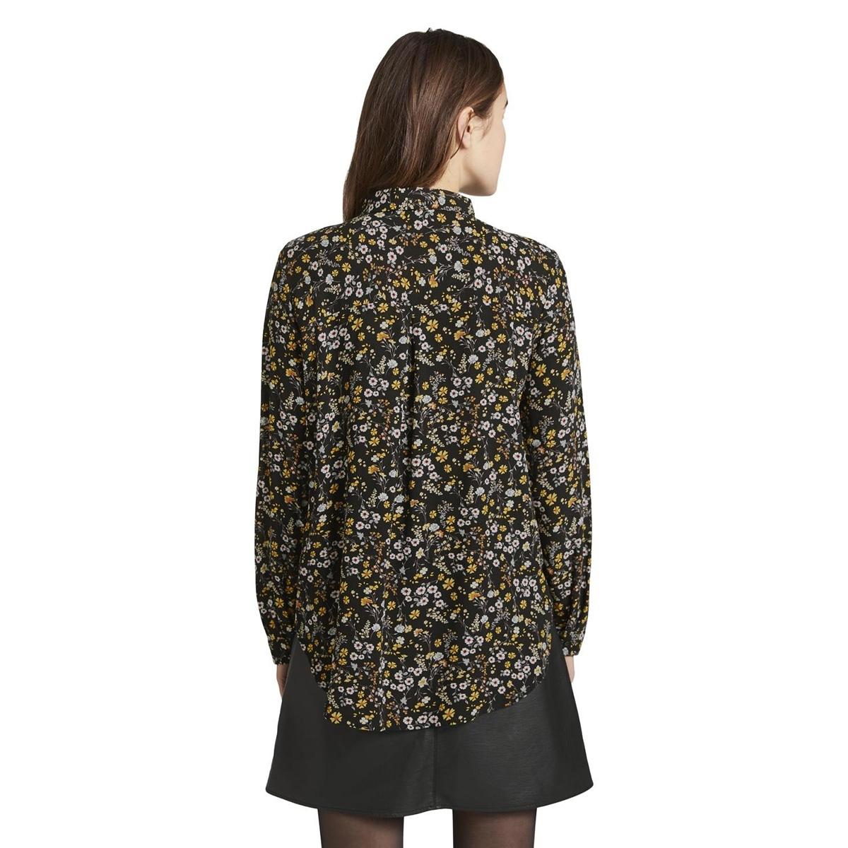 overhemd blouse met patroon 1015036xx71 tom tailor blouse 20410