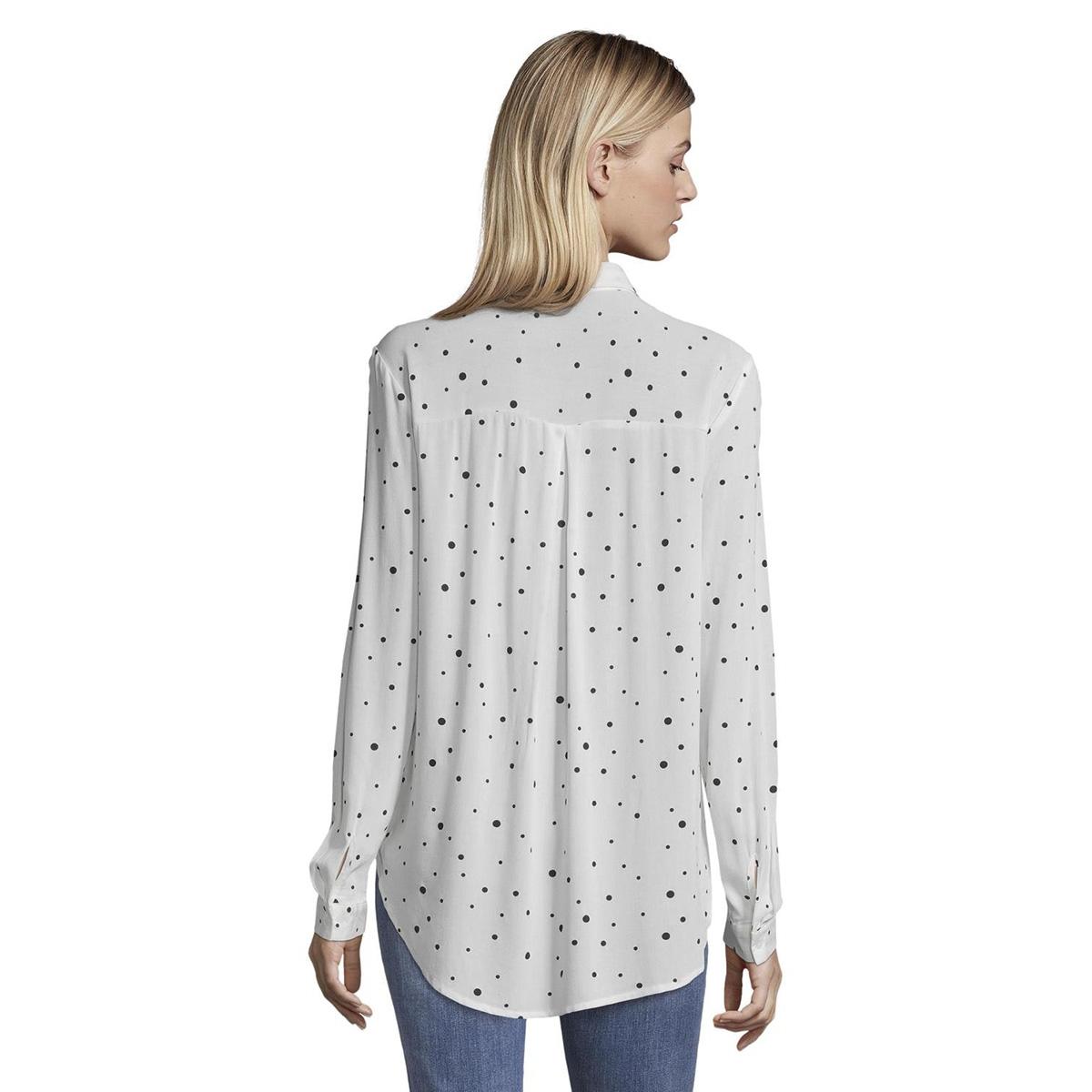 overhemd blouse met patroon 1015036xx71 tom tailor blouse 20401