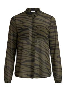vinema zinnaia l/s shirt/l/su 14059222 vila blouse forest night/zinnaia