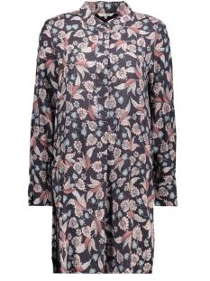 blouse met hoge zijsplitten 22001766 sandwich blouse 80027