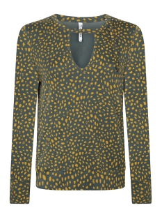 Zoso T-shirt 195 DIAN ALLOVER PRINTED BLOUSE FOREST/GOLDYELLOW