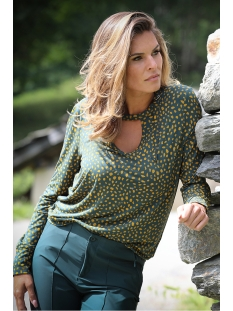 195 dian allover printed blouse zoso t-shirt forest/goldyellow