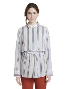 lange blouse met verstelbare taille 1016853xx71 tom tailor blouse 21581
