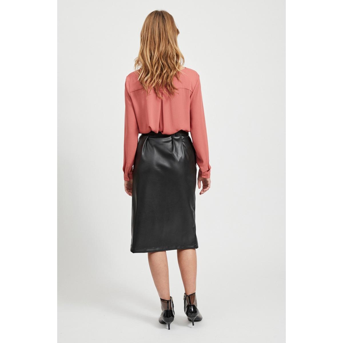 vilucy l/s shirt - noos 14044253 vila blouse dusty cedar