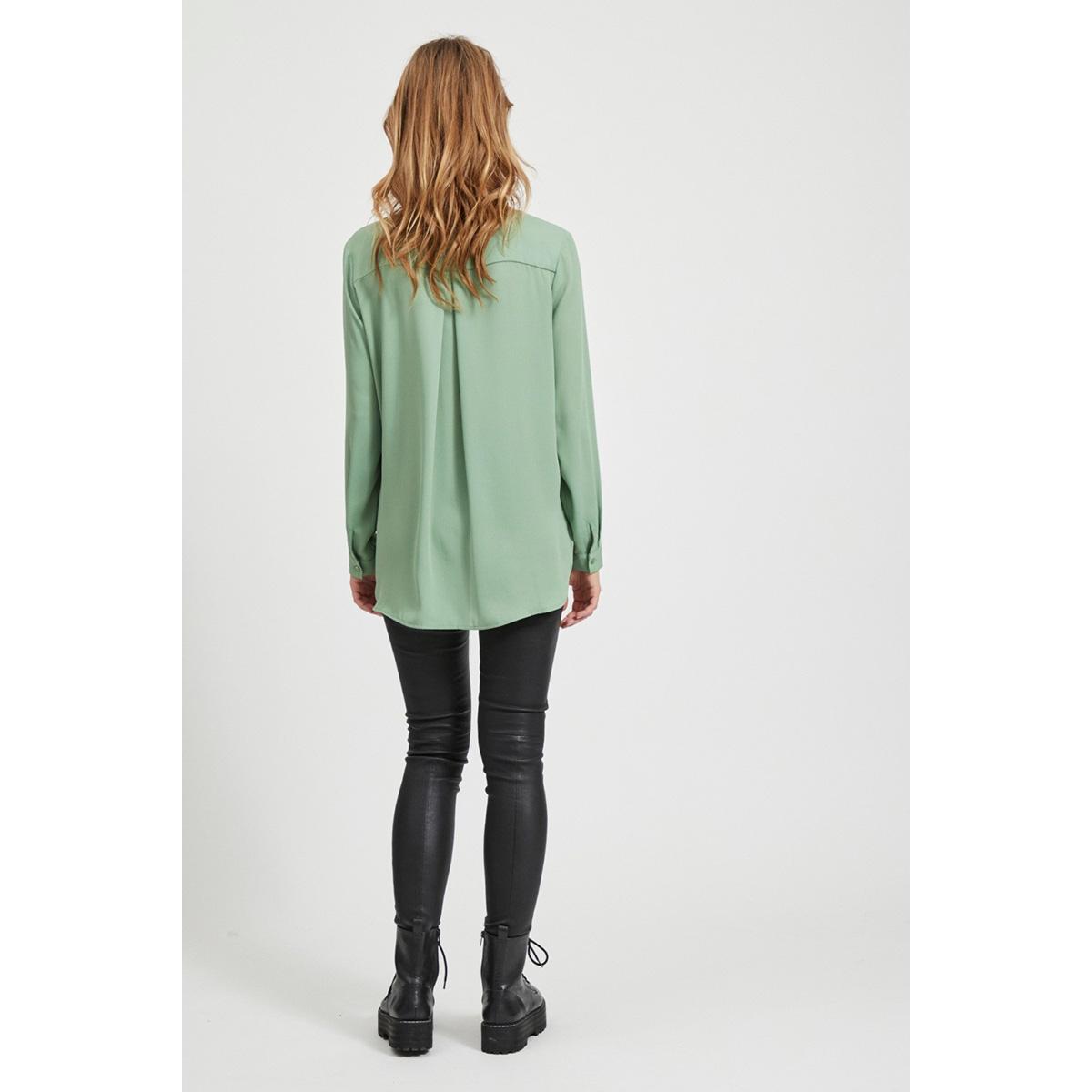 vilucy l/s shirt - noos 14044253 vila blouse loden frost