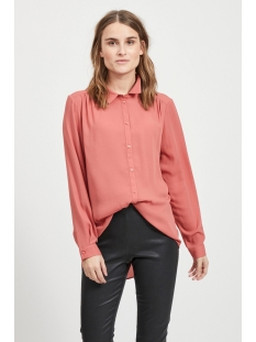 Vila Blouse VILUCY L/S BUTTON SHIRT - FAV 14053374 Dusty Cedar