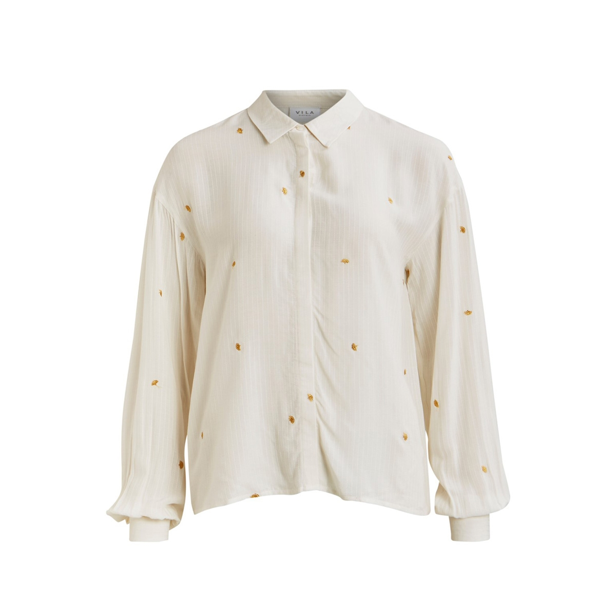 vipeppa embrodery l/s shirt c9 14056628 vila blouse snow white/embroidery