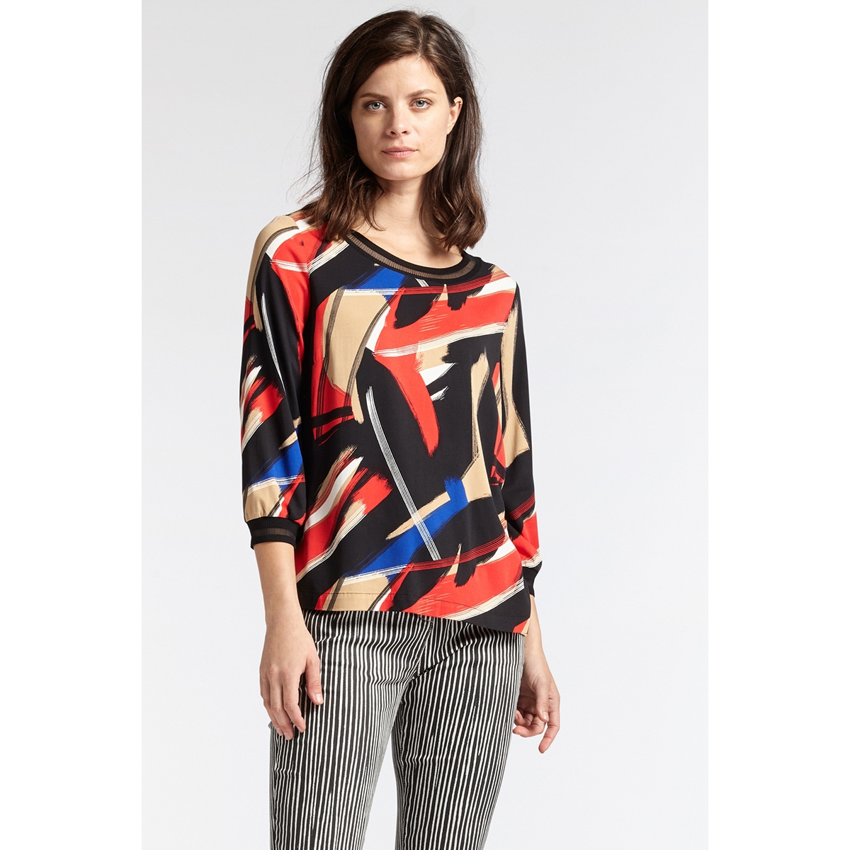 blouse met print 22001788 sandwich blouse 20151 red