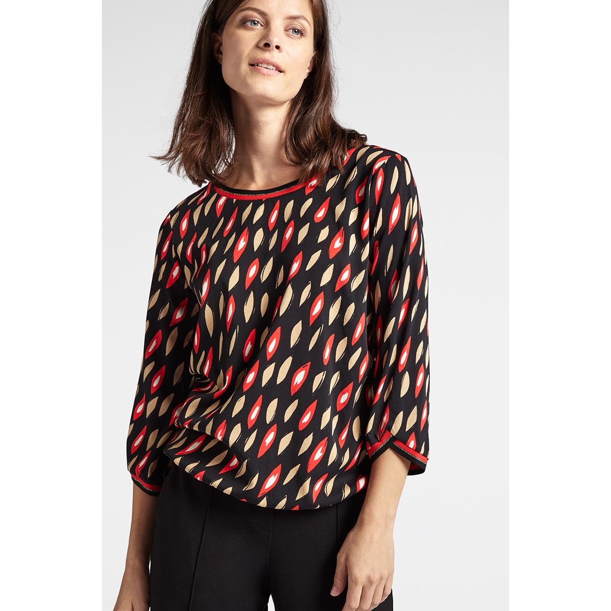 blouse met grafische print 22001789 sandwich blouse 20151 red