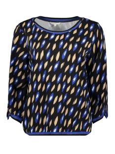 blouse met grafische print 22001789 sandwich blouse 40031 signal blue