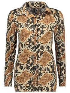 blouse basic 3332 iz naiz blouse snake camel