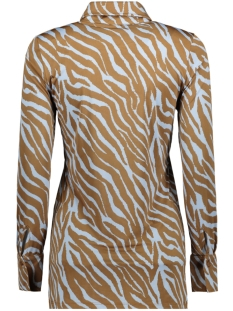 blouse basic 3332 iz naiz blouse zebra blue/camel