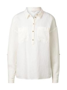 blouse met streep patroon 1017382xx71 tom tailor blouse 10348