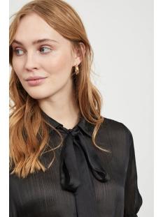 visuwavey s/s bow shirt /su 14056121 vila blouse black