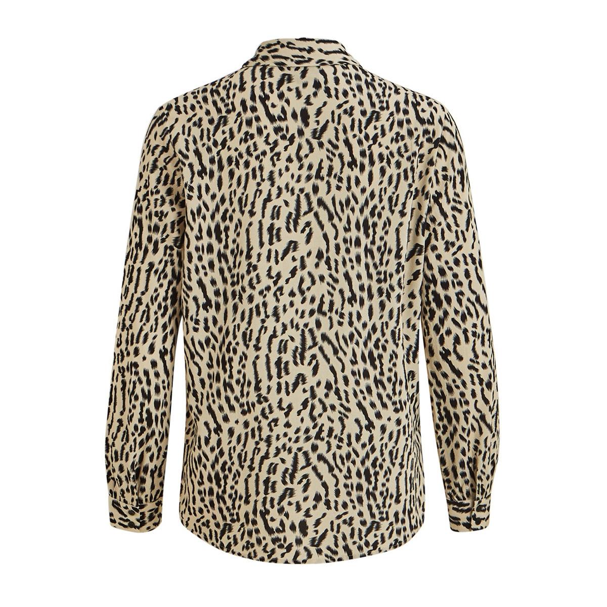 objbay l/s shirt aop seasonal 23030925 object blouse humus/new animal