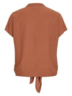 vithoma tie shirt-fav nx 14053485 vila blouse rawhide