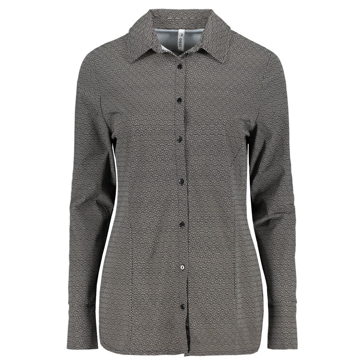 helene printed travel blouse 201 zoso blouse 0000/0021 black/kit