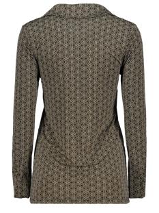 blouse basic 3332 iz naiz blouse brown lotus
