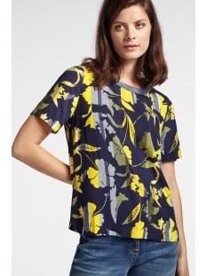Sandwich T-shirt T SHIRT MET BLOEMENPRINT 22001792 40115 NAVY