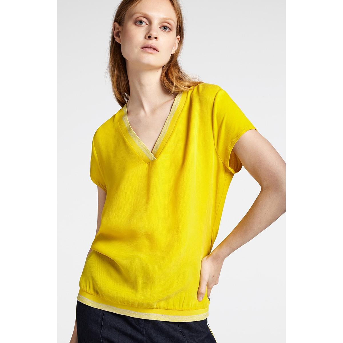 t shirt met lurex glitterstrepen 22001809 sandwich t-shirt 30024 mimosa