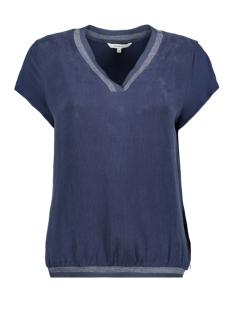 Sandwich T-shirt T SHIRT MET LUREX GLITTERSTREPEN 22001809 40115 NAVY