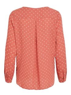vilucy l/s shirt - fav lux 14049450 vila blouse dusty cedar/snow white
