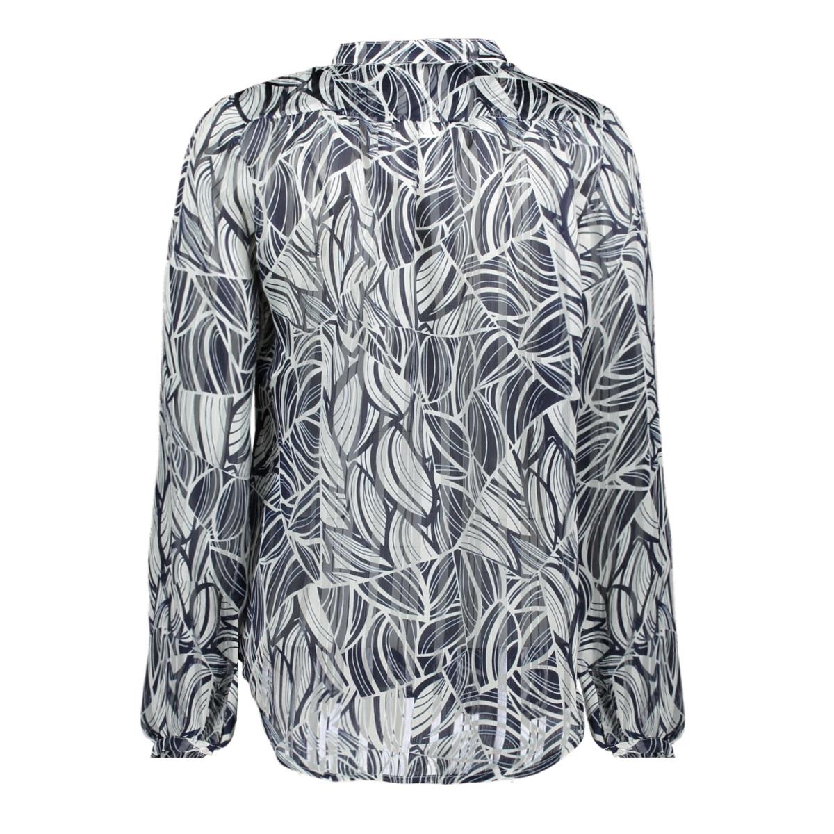 heda ls marine striped leaves ned blouse 303 marine
