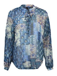 NED Blouse HEDA LS BLUE QUILTED VOILE 308 BLUE