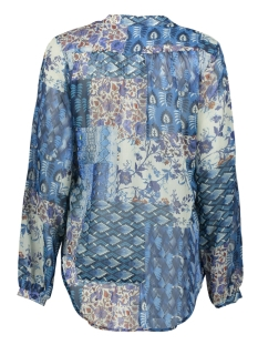 heda ls blue quilted voile ned blouse 308 blue