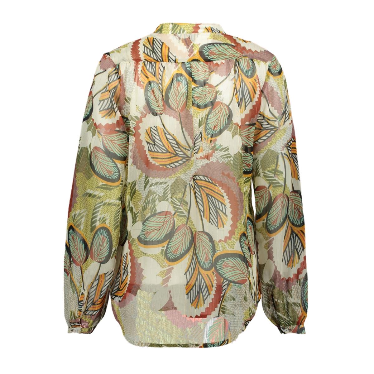 heda ls terra leaves ned blouse 608 terra