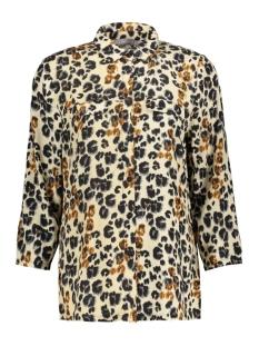 blouse aop leopard 0303942 geisha blouse beige/black