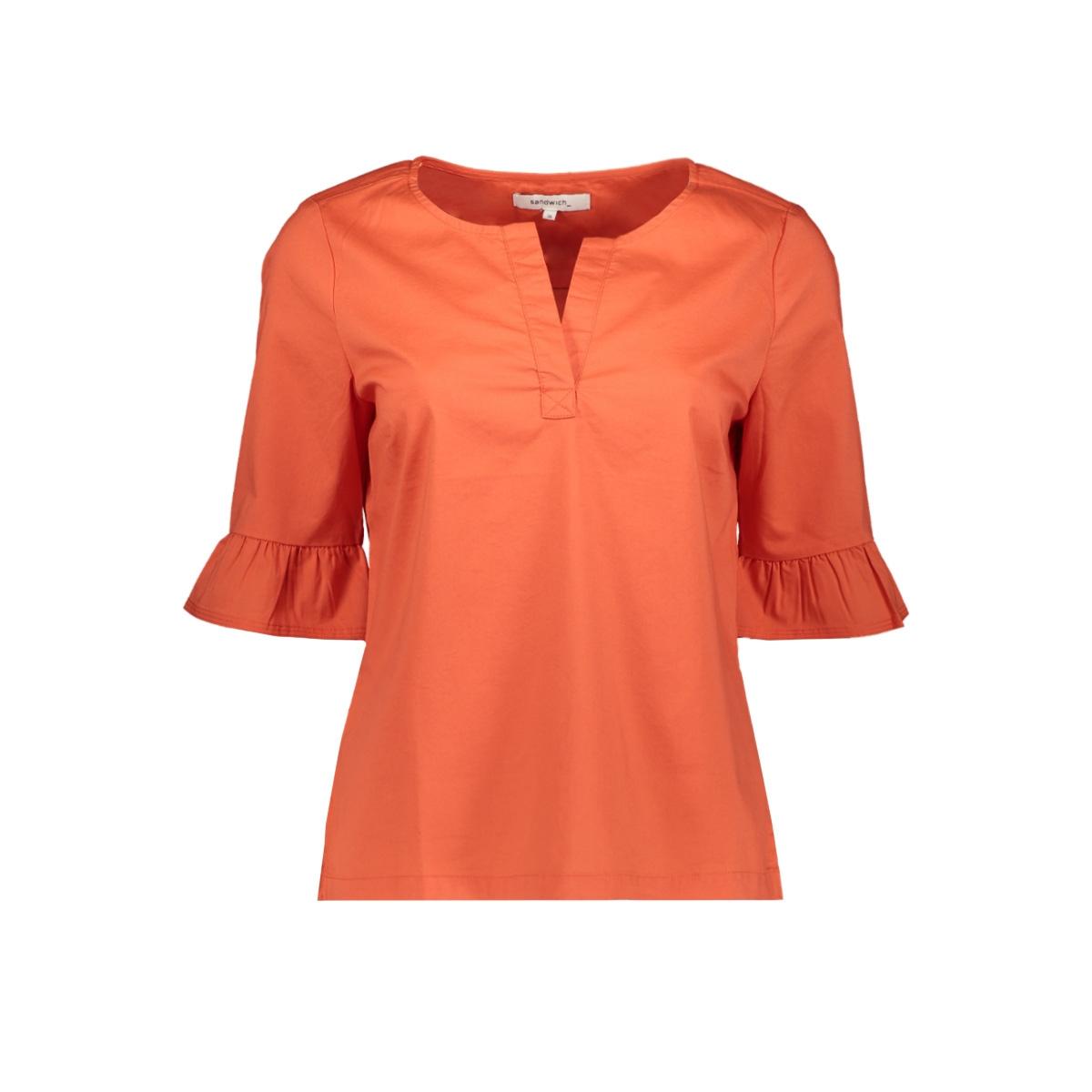 blouse met geplooide mouwen 22001559 sandwich blouse 20165