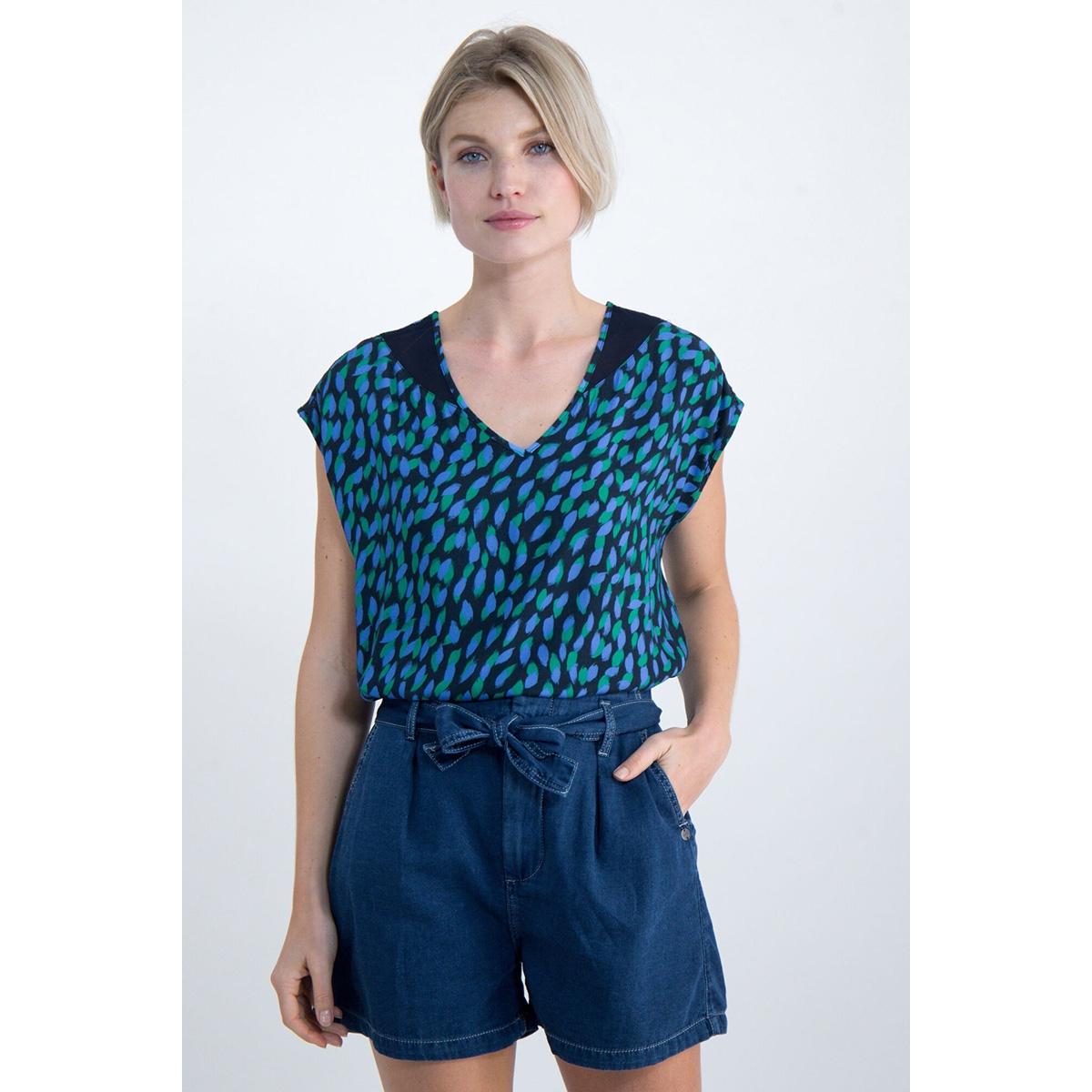 blousetop met all over print o00032 garcia t-shirt 292 dark moon