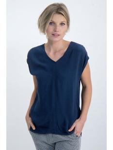 blousetop met v hals o00033 garcia t-shirt 292 dark moon