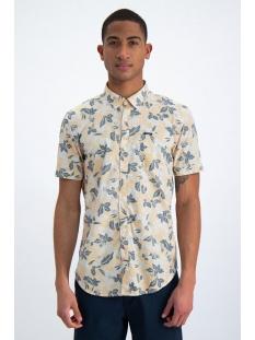 overhemd met botanische print o01037 garcia overhemd 3073 yellow rock