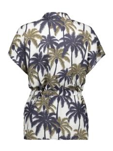 blouse aop palmtrees s s 03190 20 geisha blouse off white/navy combi