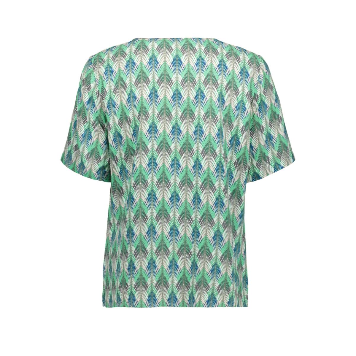 geweven t shirt met print 22001798 sandwich t-shirt 50012