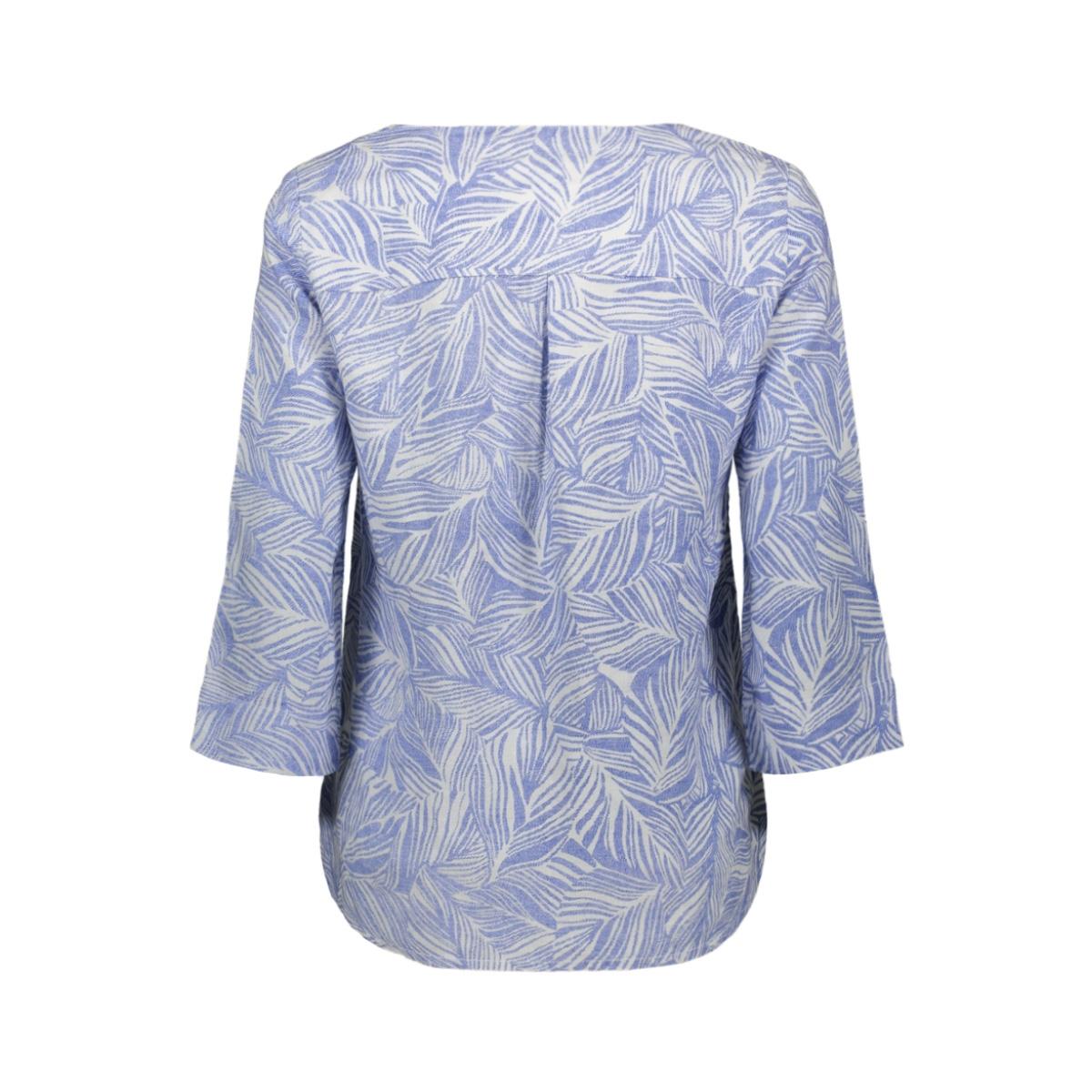 linnen blouse met organische print 22001812 sandwich blouse 40031