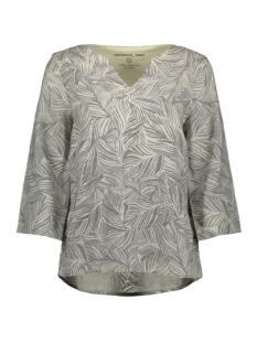 linnen blouse met organische print 15102176 sandwich blouse 80025