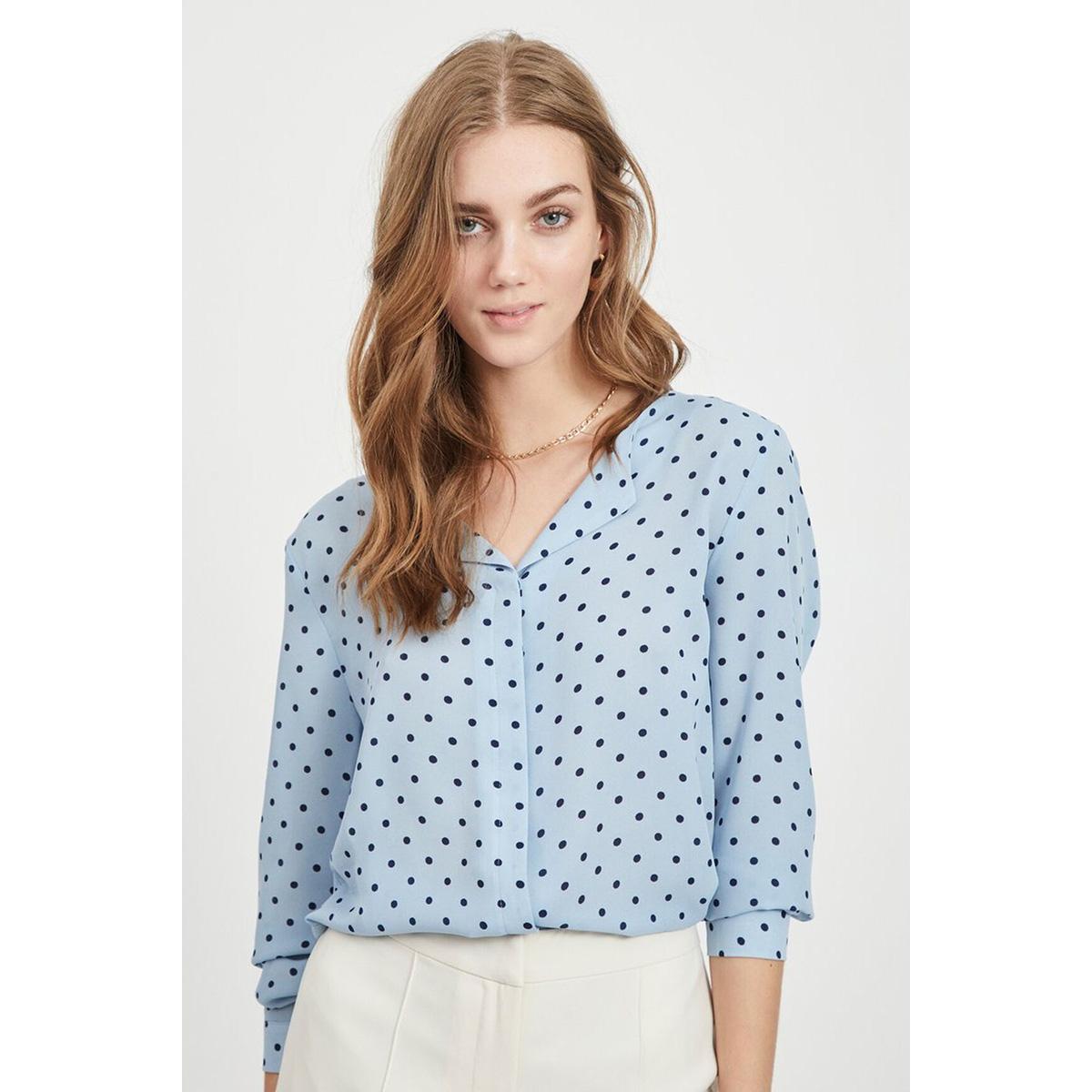 vilucy l/s shirt - fav lux 14049450 vila blouse ashley blue/navy blaze