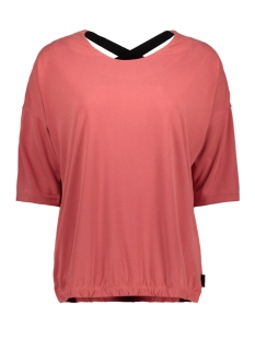 Zoso T-shirt HERO CUPRO LOOK BLOUSE 201 0072 DESERT RED