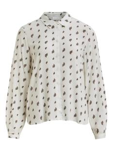 viveraslionella l/s shirt/su 14057072 vila blouse cloud dancer/w. lionell