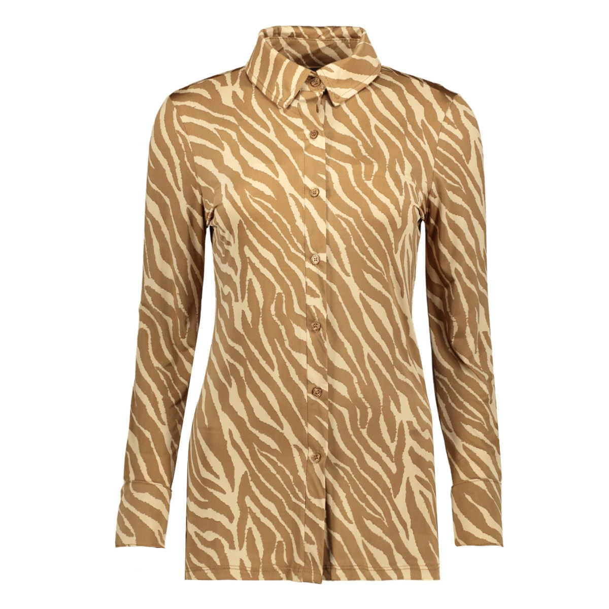blouse basic 3332 iz naiz blouse zebra camel/sand
