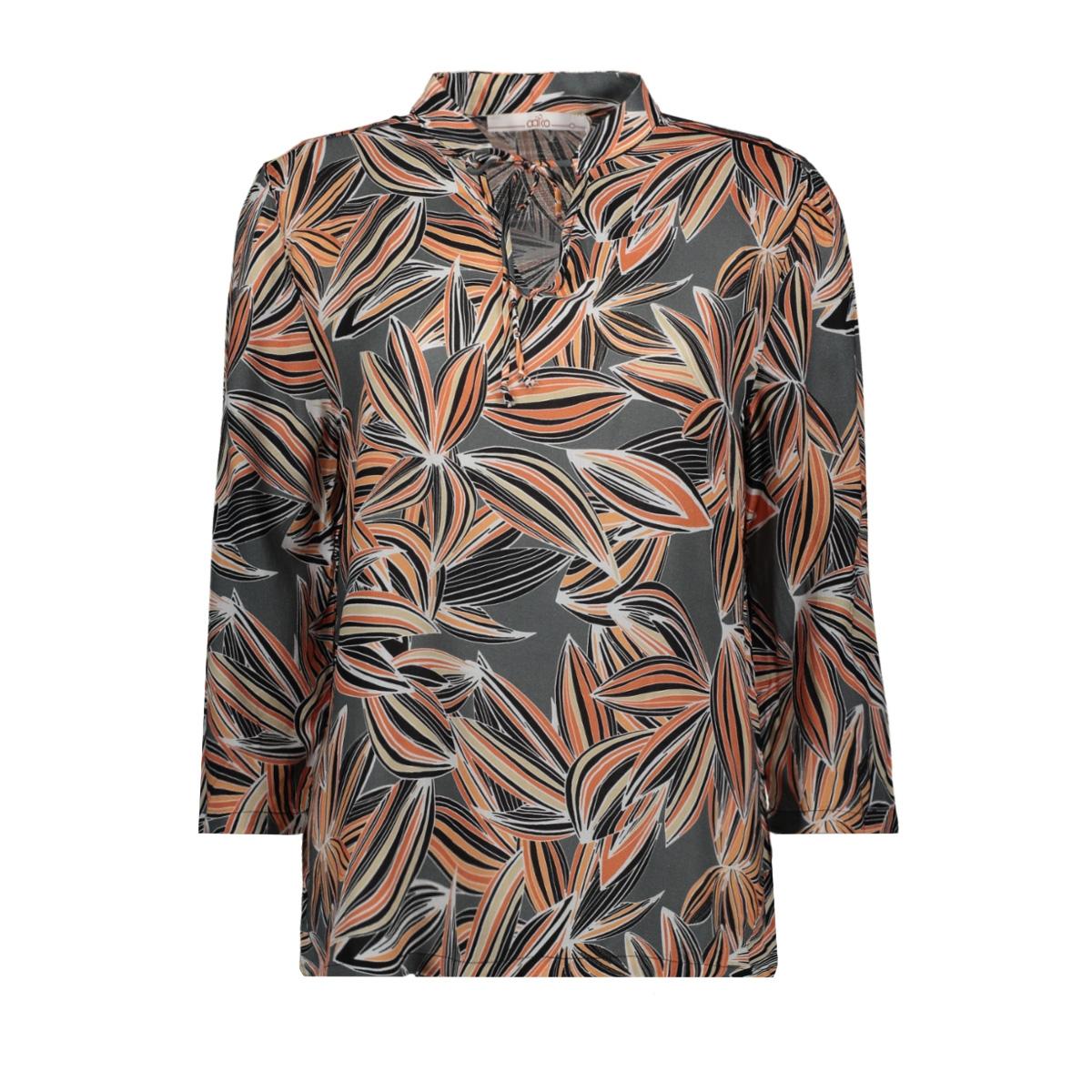 ancona vis 516 aaiko blouse steel green