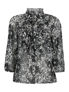Saint Tropez Blouse LILLY LS SHIRT 30510079 6000054 Flower Glam Black MS 2