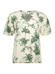 Saint Tropez T-shirt ADASZ SS BLOUSE 30510098 131308 CREME
