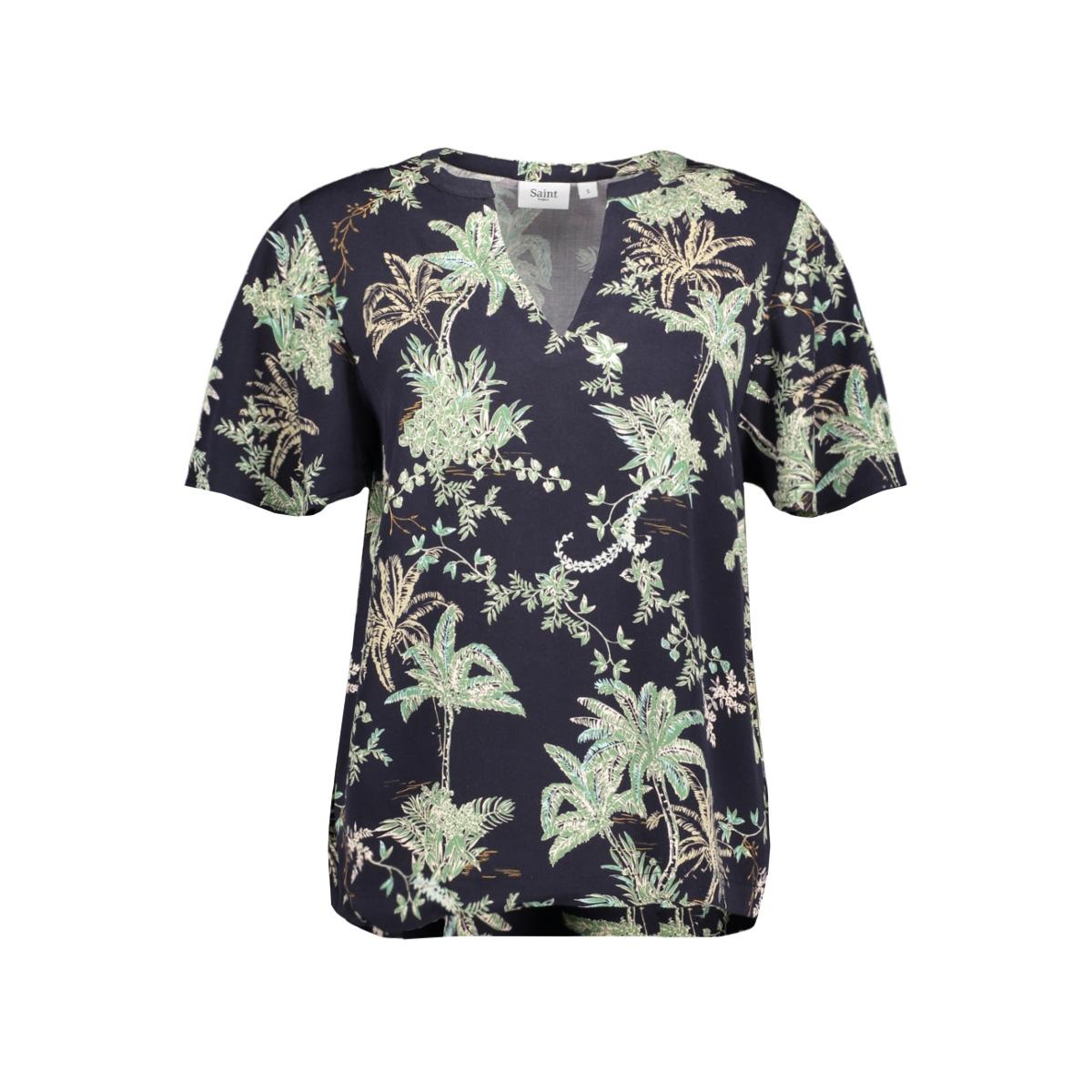 adasz ss blouse 30510098 saint tropez t-shirt 600122 blue summer pal
