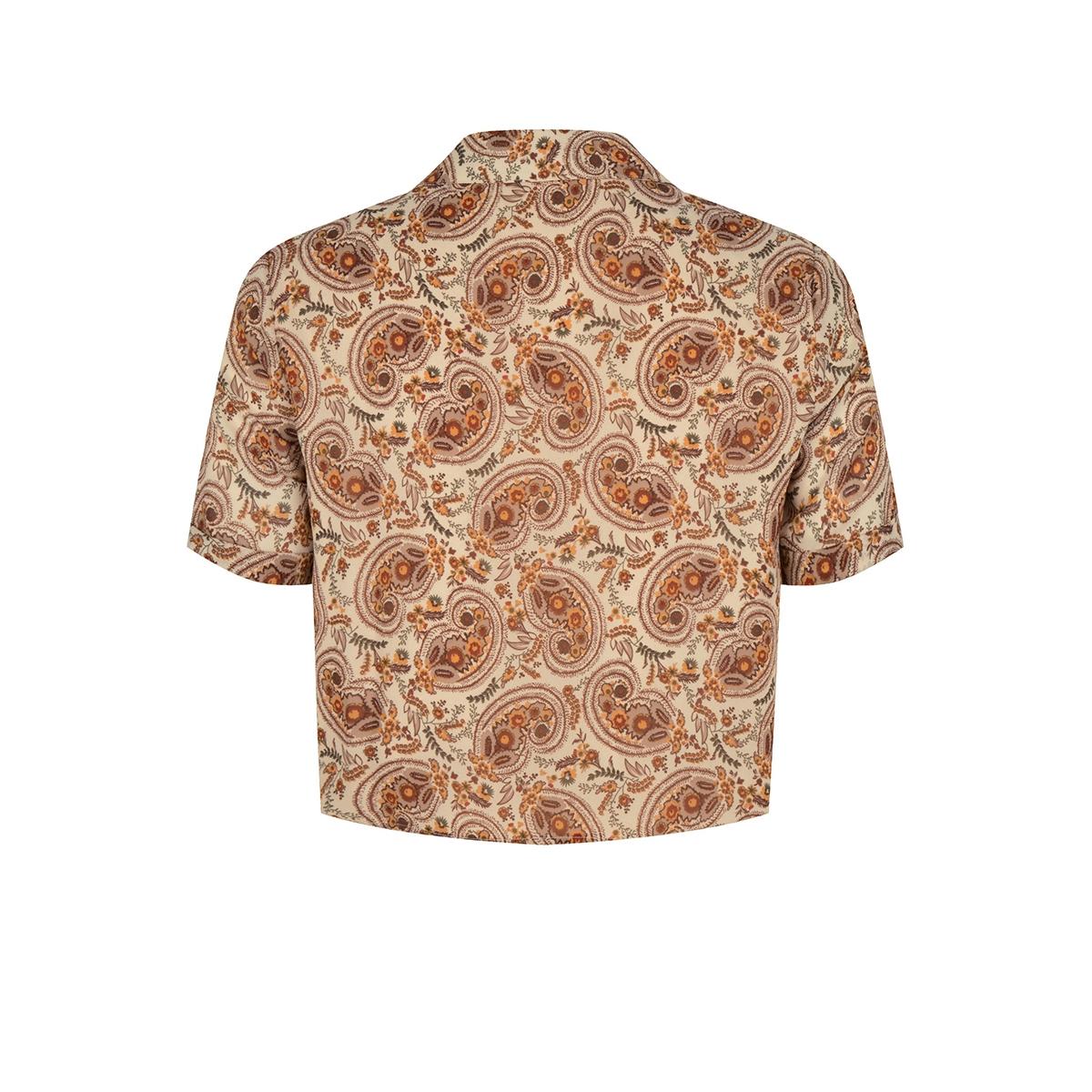 olivia blouse met knoop onderin ydence blouse paisley print