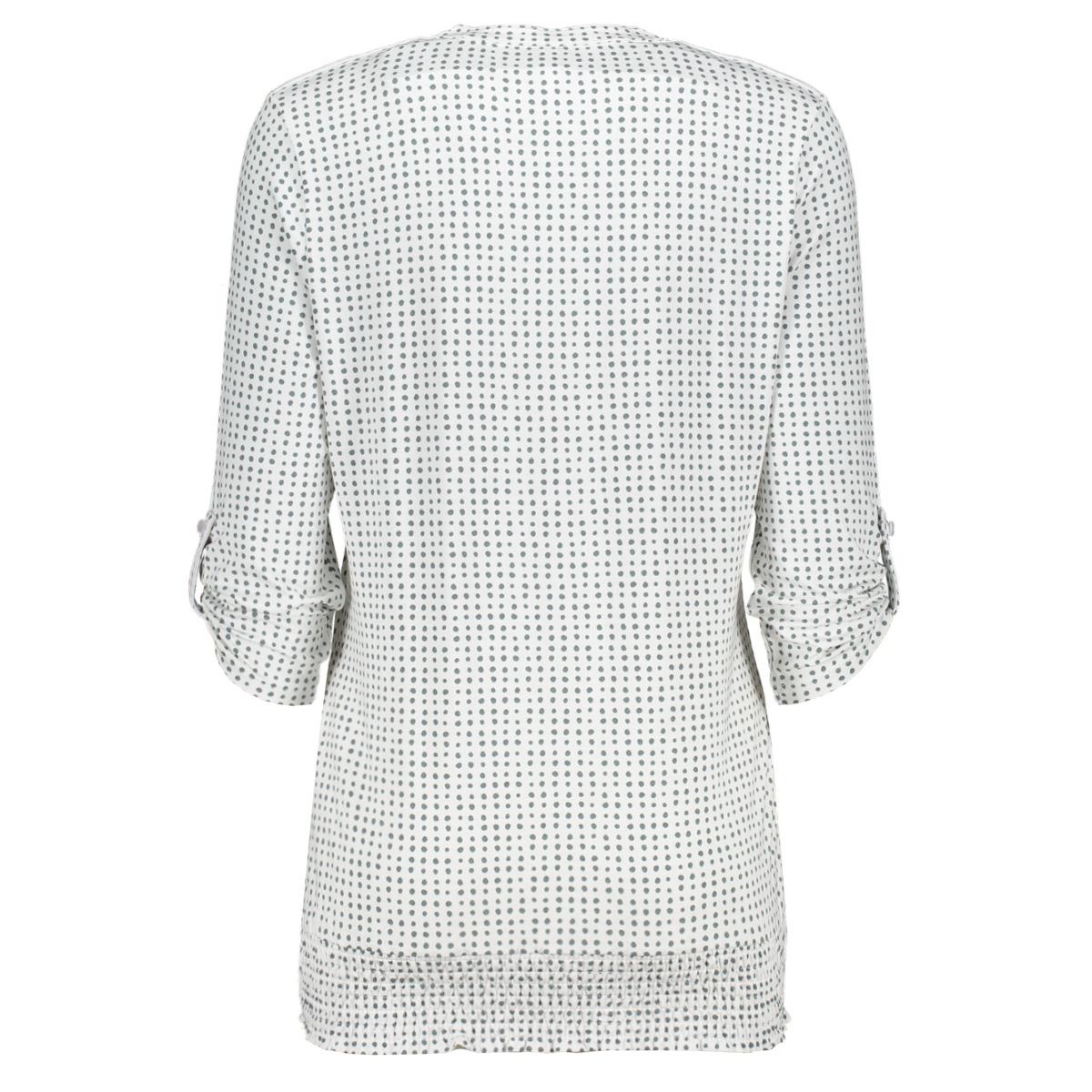 linda blouse with dots print 202 zoso blouse white/greenstone
