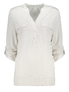 Zoso Blouse LINDA BLOUSE WITH DOTS PRINT 202 WHITE/SAND